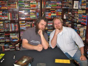 Patrick Rothfuss and Dustin