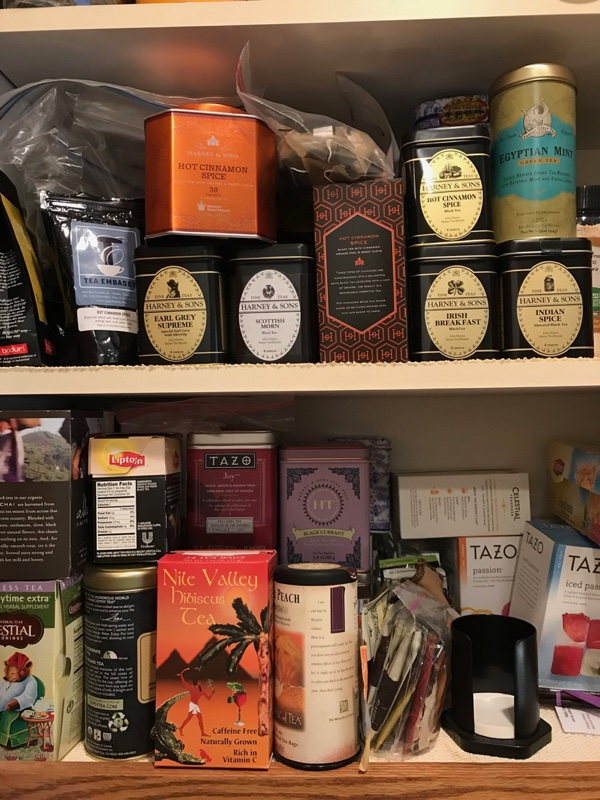 My tea shelves.
