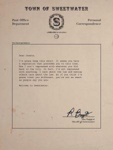 Westworld letter