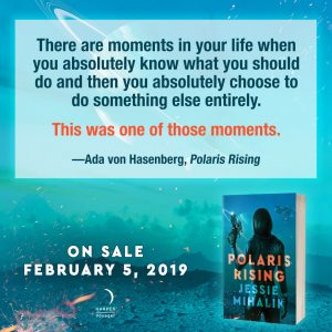 There are moments in your life when you absolutely know what you should do and then you absolutely choose to do something else entirely.  This was one of those moments.  —Ada von Hasenberg, Polaris Rising